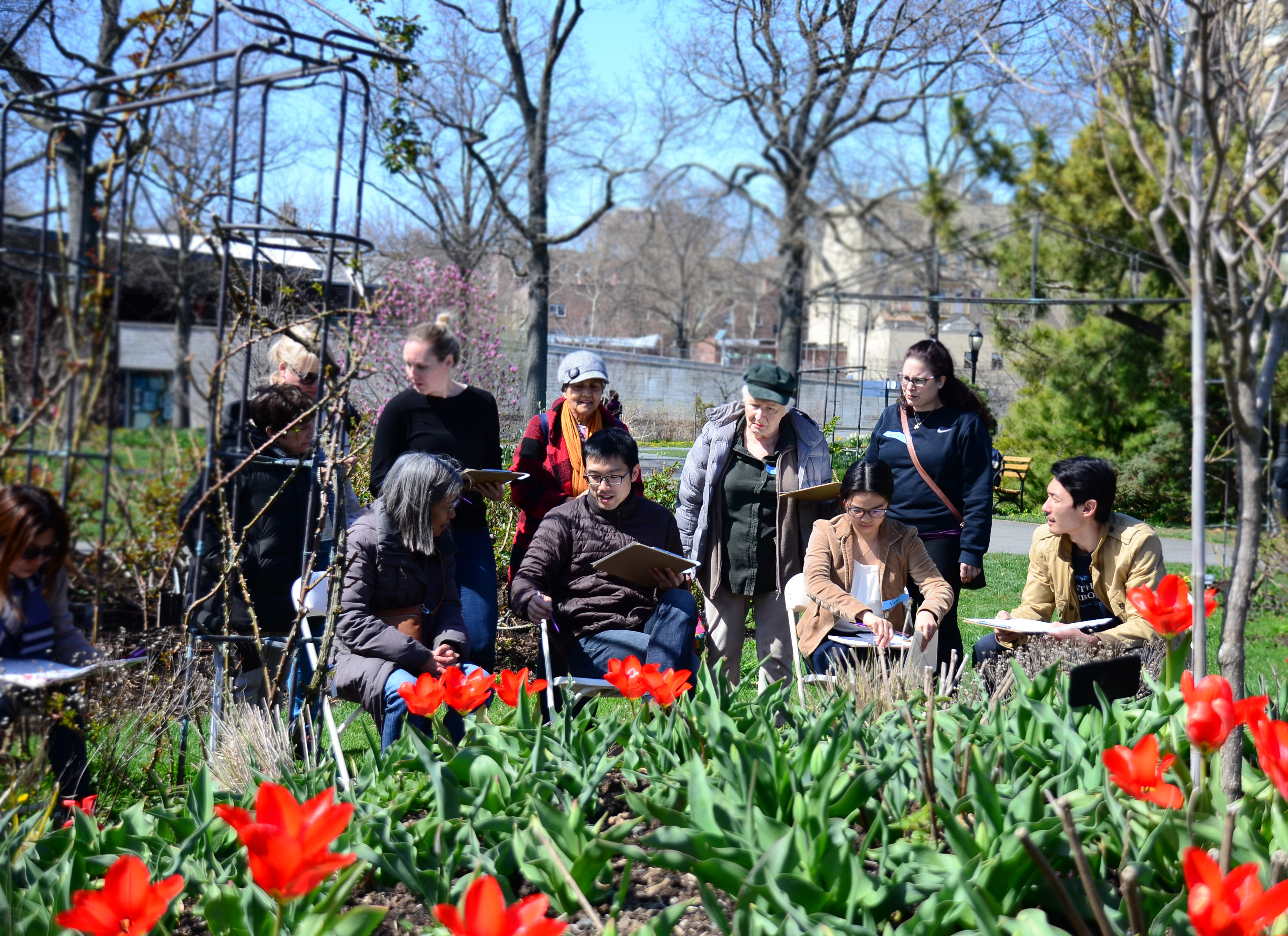 Watercolor Workshop Spring Blooms Sold Out Queens Botanical Garden