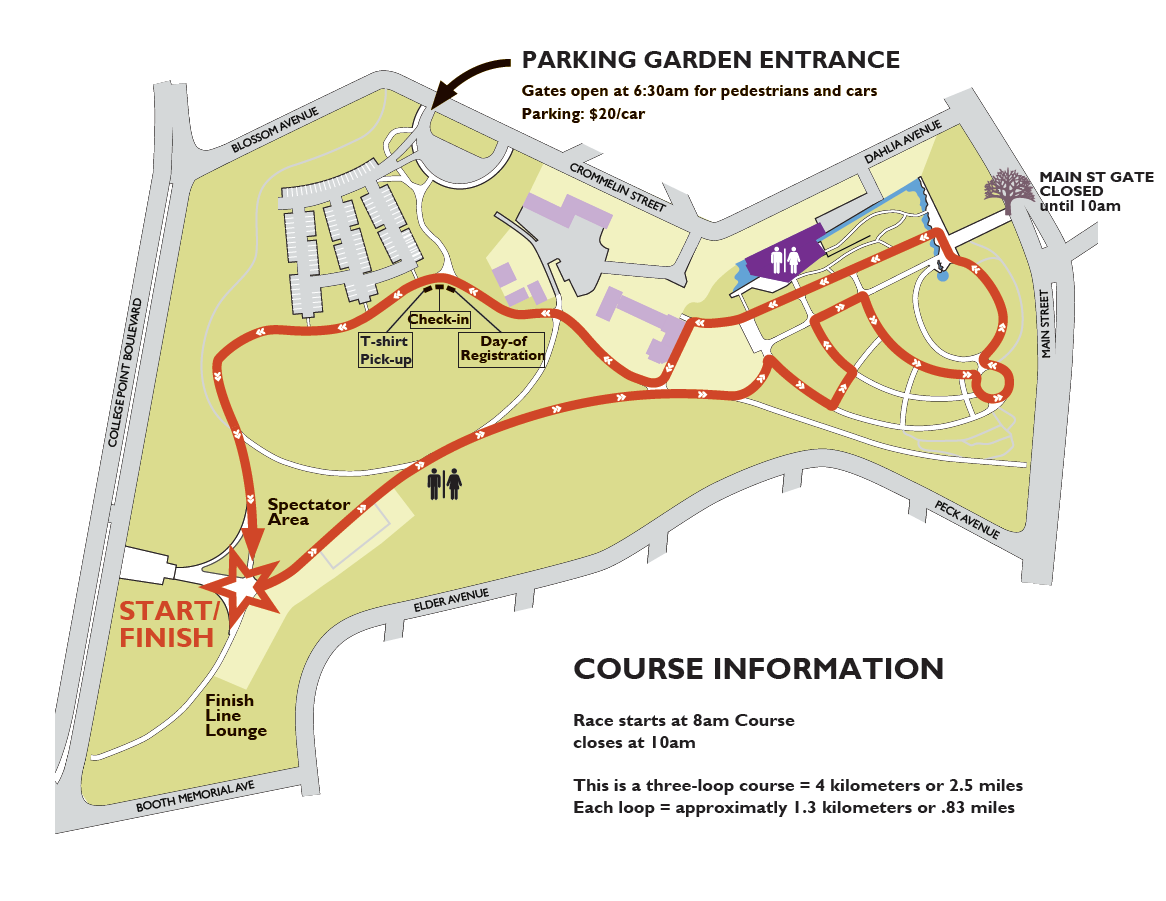 Map - Queens Botanical Garden Queens College Map on