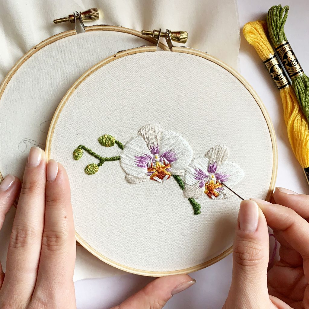 Wedding Gift Stores Nyc: Embroidery Workshop: Orchids (SOLD OUT)